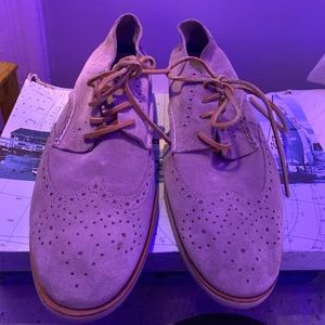 Men's size 11 suede Gray sperry Oxford shoes
